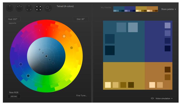 Tetrad Colour Scheme